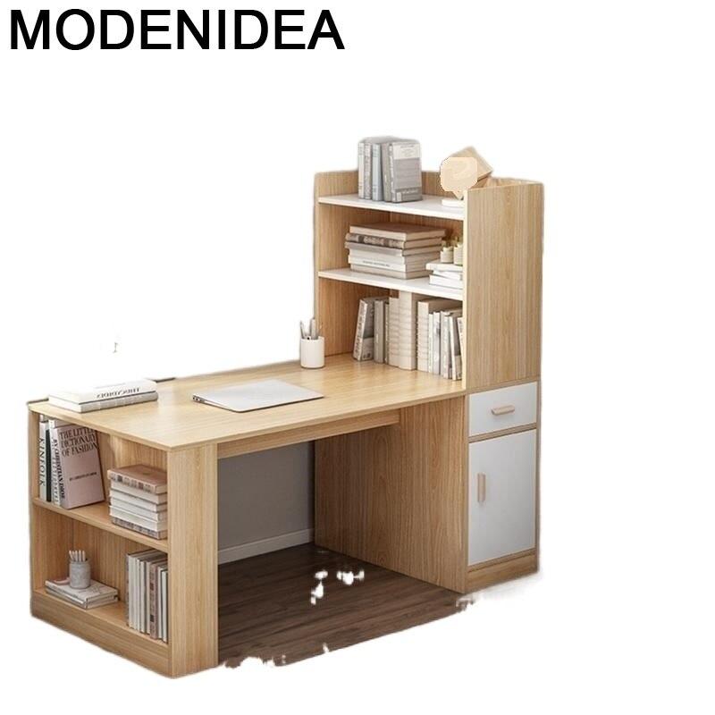 مكتب Meuble-حامل كمبيوتر محمول ، مكتب ، طاولة مع خزانة كتب