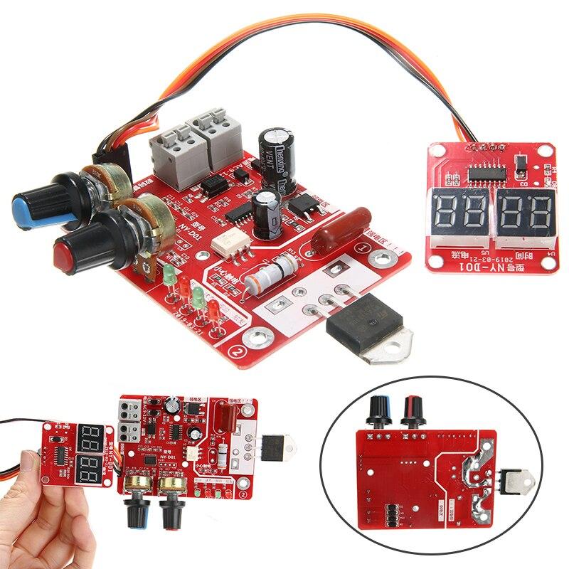 Nuevo NY-D01 40A punto soldador máquina Control de tiempo pantalla Digital controlador tablero módulo práctico accesorios de soldadura