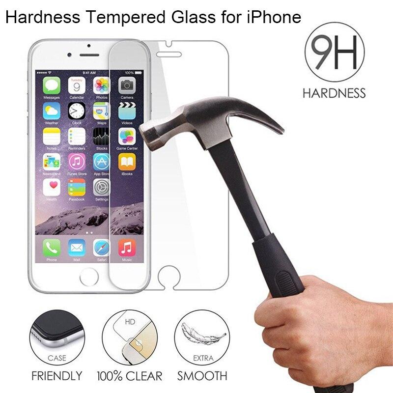 Protetor de tela de vidro para iphone 11 pro max x xs xr 5 5S se vidro temperado para iphone 8 6 s claro vidro duro no iphone 7 plus
