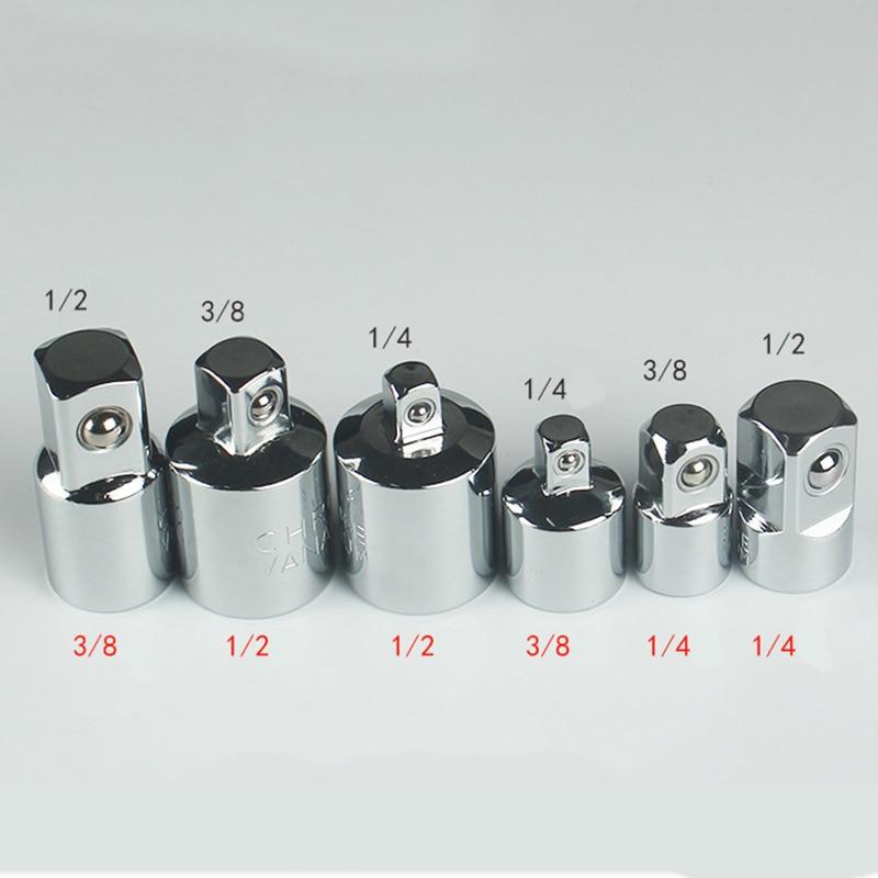 Adattatore per chiave a cricchetto 1/4 3/8 1/2 pollici adattatore per manicotto in acciaio al cromo vanadio convertitore per presa di corrente convertitore per giunto chiave-manicotto
