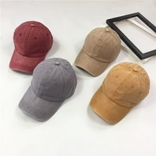 Women's Korean-Style Retro Curved Brim Peaked Spring and Summer Casual Solid Color Baseball Cap Coup