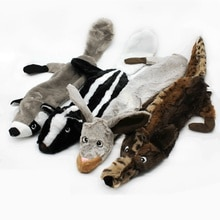 Novo bonito brinquedos de pelúcia guinchar animal de estimação lobo coelho animal de estimação brinquedo de pelúcia cão mastigar assobio estridente envolvido esquilo cão brinquedo pequeno cão bola