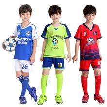 Garçons personnalité Football maillots enfants Football uniforme personnalisé Football Kit formation costumes Jersey pour enfants Football jersey ensembles