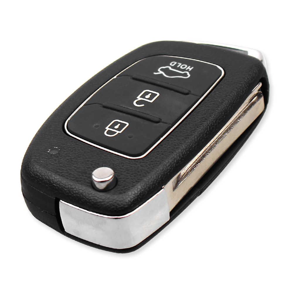 Keyyou 3 Buttons Flip Folding Remote Auto Car Key Shell Blanks For Hyundai Solaris Ix35 Ix45 Elantra Hb20 Verna Solaris Car Key Aliexpress
