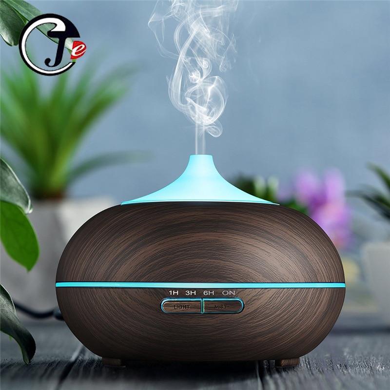550ml humidificador de aire de control remoto eléctrico difusor de Aroma de aceite esencial humidificador ultrasónico con luz LED para el hogar
