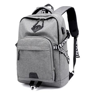PG12 New men's and women's leisure backpack USB rechargeable computer bag outdoor sports travel backpack schoolbag for college