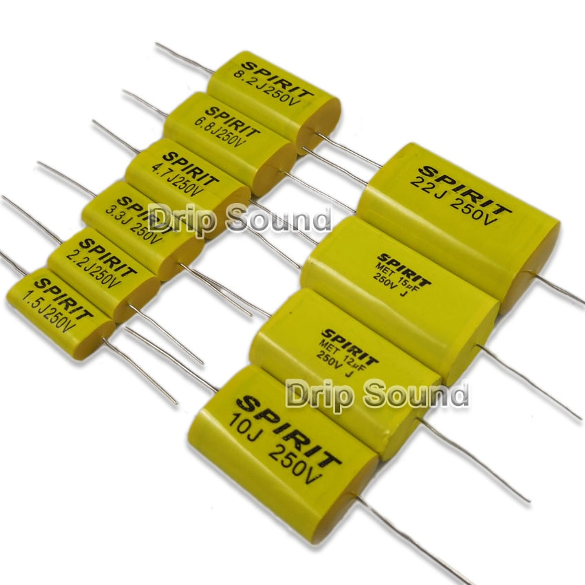 2pcs 1.0uF-12uF 250V Tweeter Speaker Frequency Divider Crossover Non-Polarity Capacitor