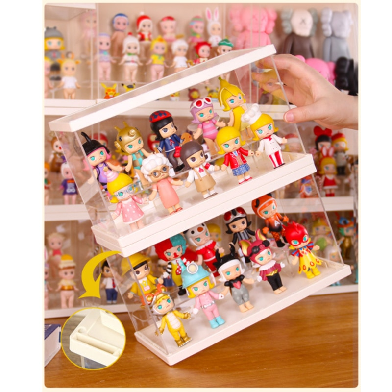 BrIckLight Suitable For Lego/Doll/Toy/Fingertip Toy Storage Collection Transparent Dustproof HD Acrylic Display Box Light Box 2pcs clear acrylic display show case box perspex dustproof protection for figure diecast vehicle doll model figurine collection