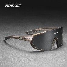 KDEAM infrangibile TR90 occhiali da sole polarizzati attivi uomo Ultra-grip naso in gomma lente a specchio multistrato + lente trasparente KD0802