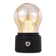 New Retro light bulb LED Rechargeable Night Light,Mini Desk Table Decor Mood Nightlight,Beside Bed Stand Lamp, Friend Office Cof