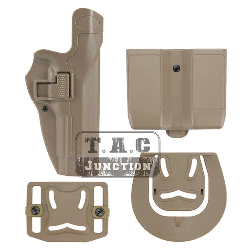 Funda táctica de pistola de nivel de Serpa para el bloqueo automático, bolsa de lazo de correa de paleta derecha con bolsa de revista para bereta 92 96 M9 M92