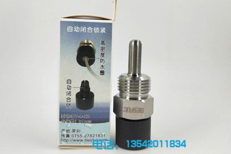 BT-4-22 مقاوم للماء أعمى الأنابيب ل أربعة أجزاء الأنابيب الخيوط انبوب ماء 22 مللي متر مسبار درجة الحرارة مقاوم للماء BT-4-100 BT-4-200 100 مللي متر