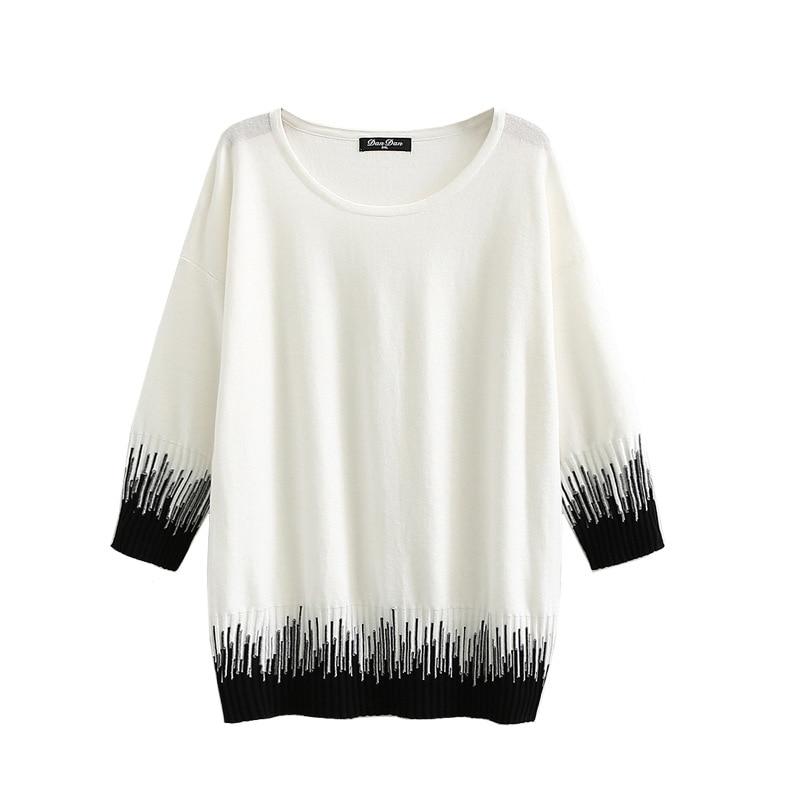 Suéteres de mujer Ropa de talla grande 3XL-5XL Otoño Invierno Casual moda suelta suave y cómoda tejer suéter fino C2-2008