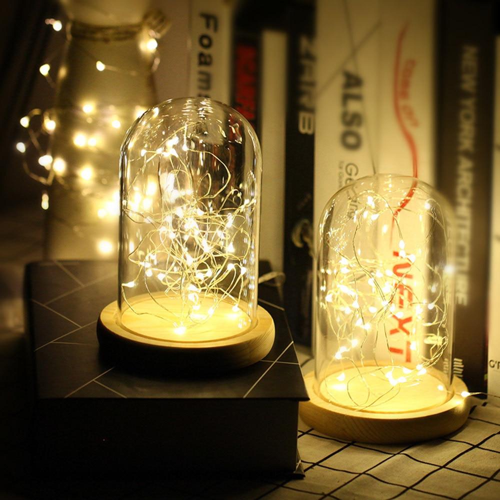 2m 5m 10m LED-uri cu șiruri de sârmă de argint ghirlande de - Luminări festive - Fotografie 3
