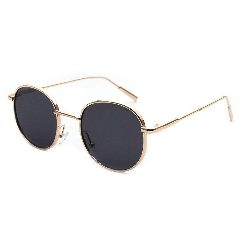 Sunglasses Women Fashion Retro Round Sun Glasses Lens Alloy Kids Eyeglasses Female Eyewear Frame Driver Goggles Car Accessories