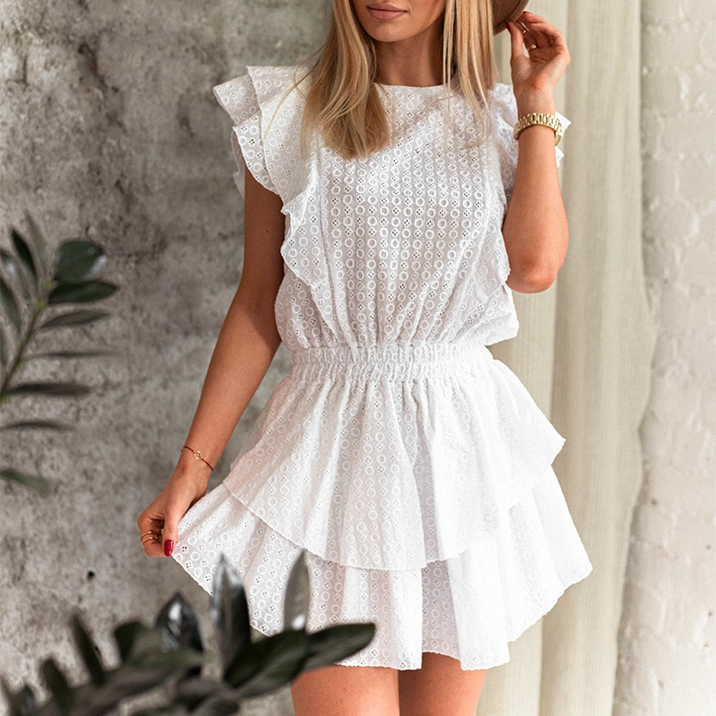 Summer White Dress For Womens Robe Traf y2k Bodycon Party dresses Sukienka Female clothing