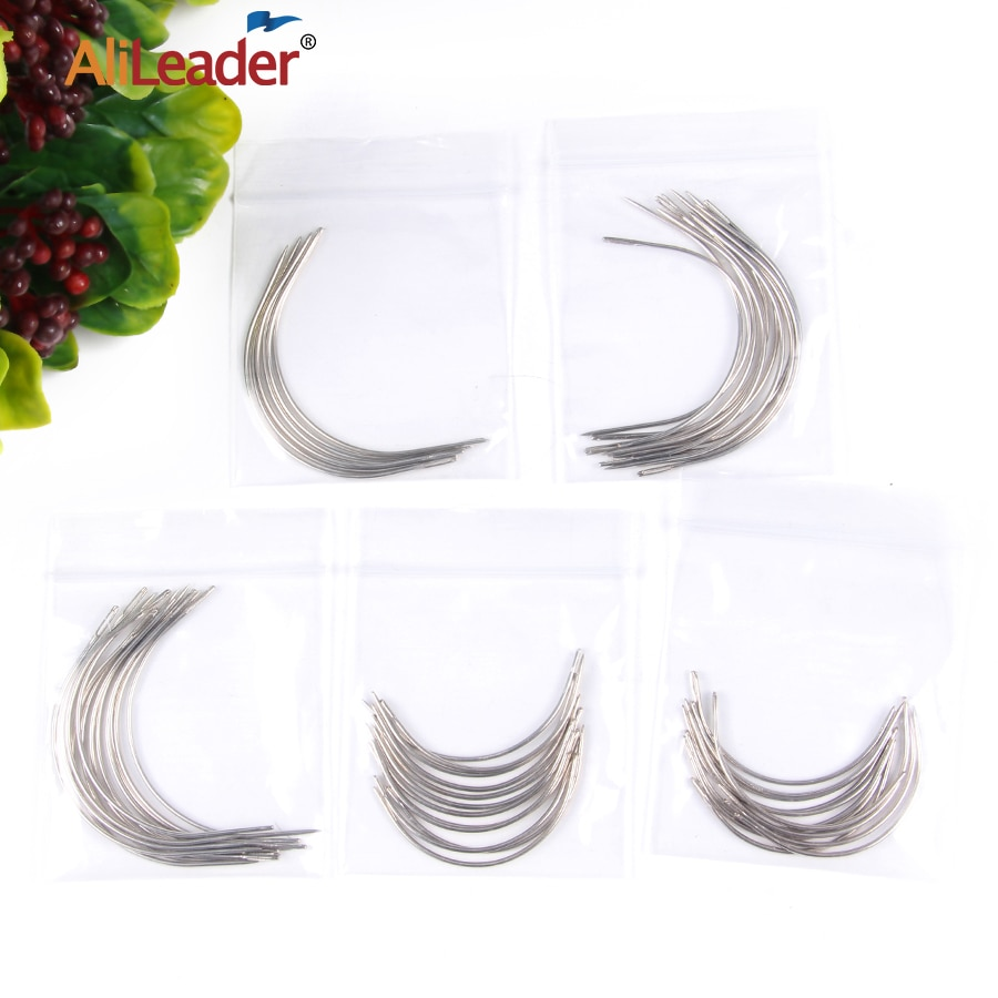 Alileader cheap Curved Needle For Hair Weaving Cap Wigs Needles For Hair Extension 12Pcs/Pack 6Cm/9Cm C-Type Needles Tools wholesale curved needles birch quality tying quilts 2 5inch