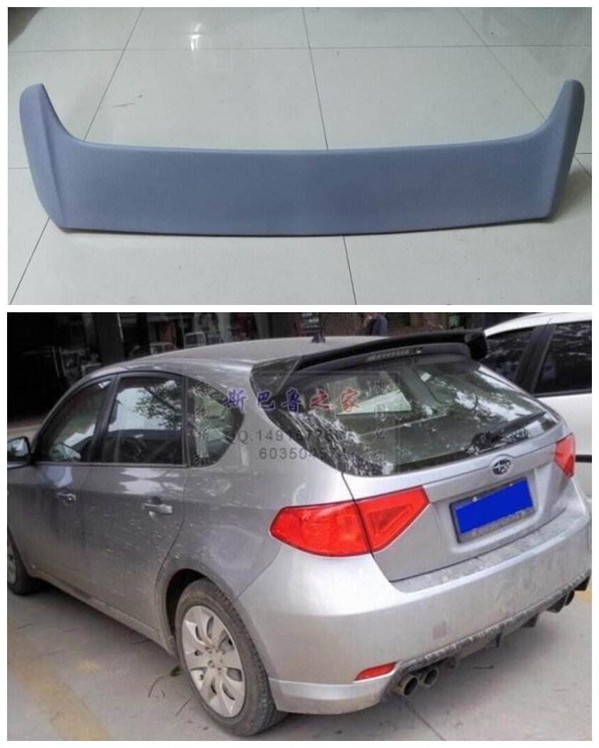Hohe qualität ABS Farbe Auto Hinten Trunk Lip Spoiler Flügel Passend Für Subaru Impreza/WRX Fließheck 10th TSI 2008 2009 2010 2011