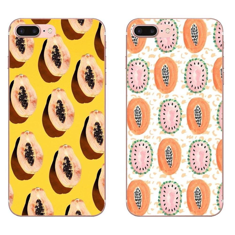 TPU Hotsales Frutas Mamão Do Vetor Para HTC Desire 530 626 628 630 816 820 830 Um A9 M7 M8 M9 m10 E9 U11 U12 Vida Mais