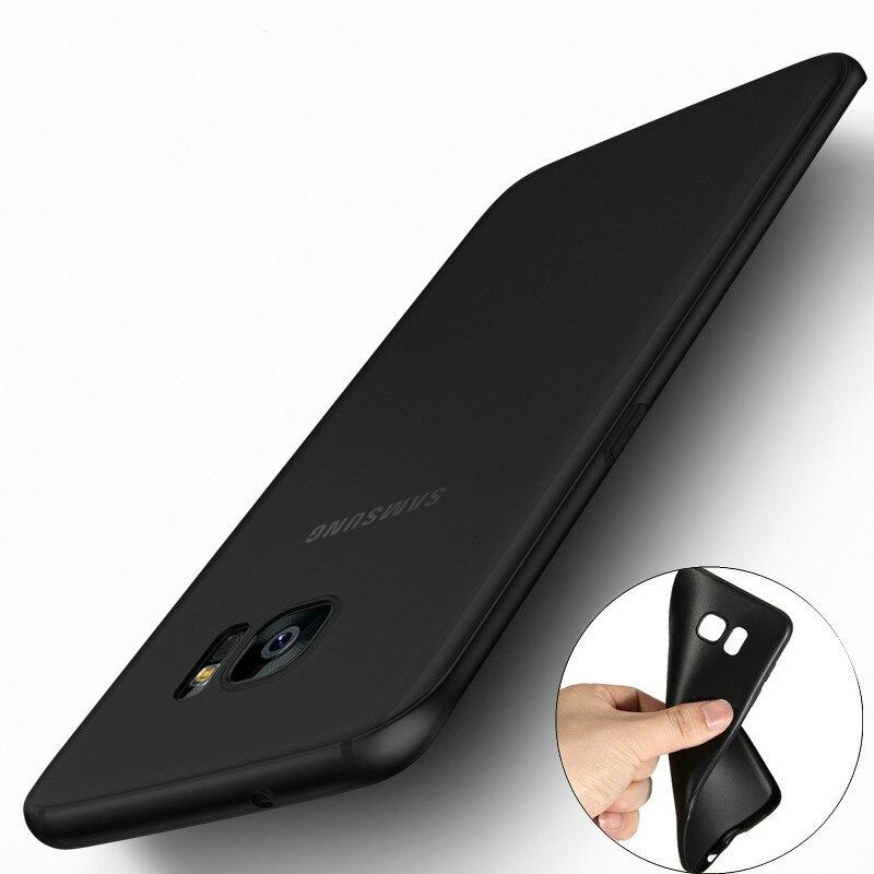 Ultra Thin Black Matte Soft Silicone TPU Case for Samsung Galaxy J1 J3 J5 J7 A3 A5 A7 2015 2016 2017
