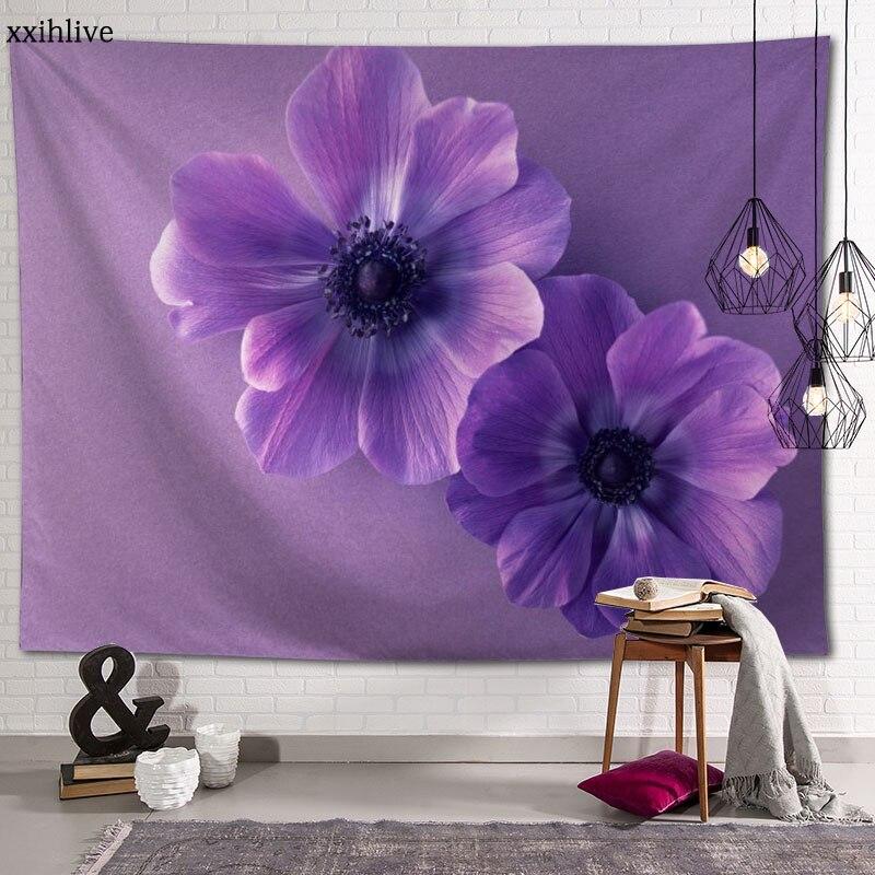 Гобелен, анемон, цветок, фон, декоративная настенная Подвеска для гостиной, спальни, домашний декор