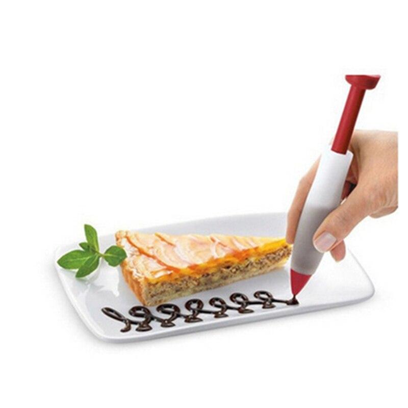 1 шт., пищевая ручка, кондитерский крем, шоколадный шприц, силиконовая пластина, ручка для рисования, торт, мороженое, кухонные аксессуары