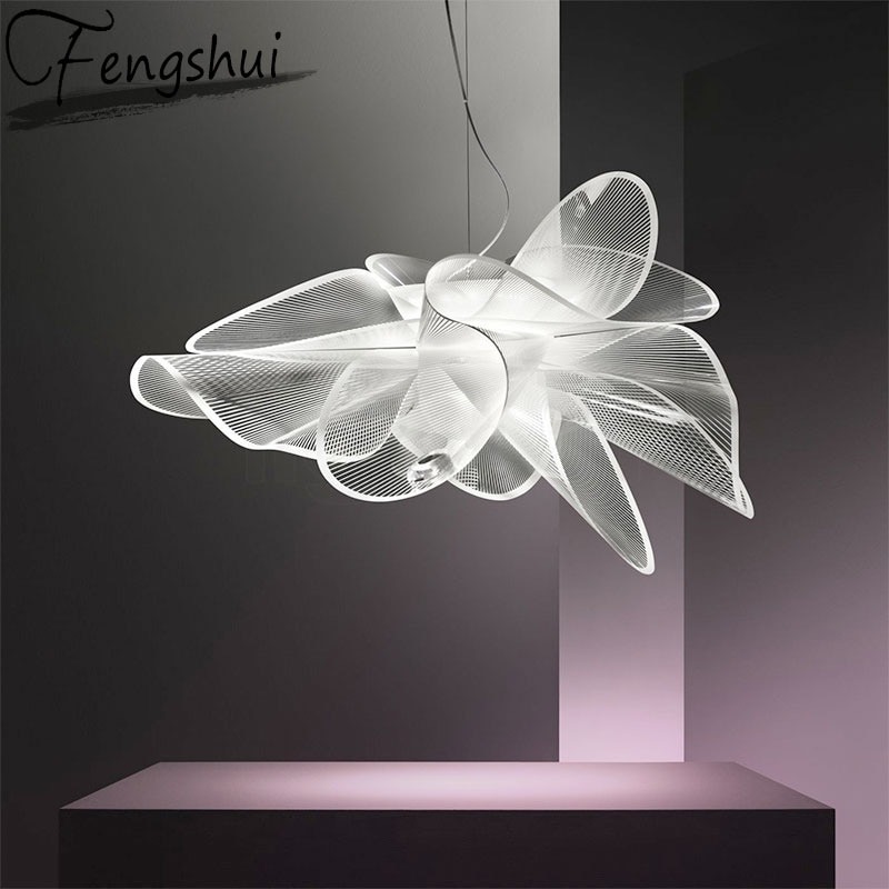 Luces colgantes de acrílico nórdico LED iluminación lámpara colgante de malla comedor sala de estar dormitorio restaurante Art Deco lámpara colgante