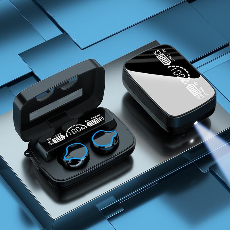 M9 bluetooth 5.1 fone de ouvido sem fio toque alta fidelidade qualidade de som esportes à prova dtwágua in-ear tws fone de ouvido com microfone