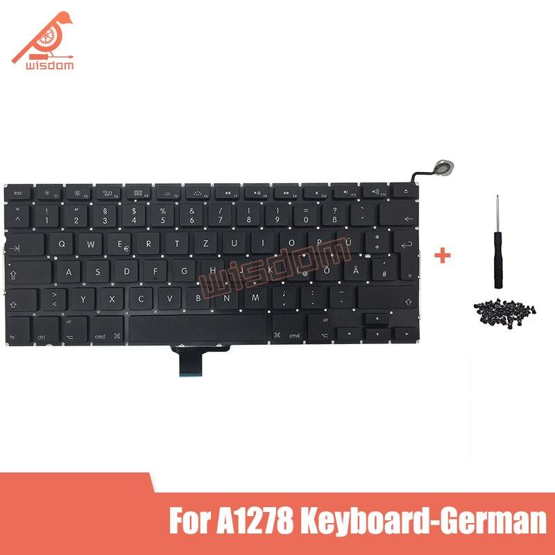 Полная Новинка A1278 немецкая клавиатура для ноутбука Macbook Pro 13