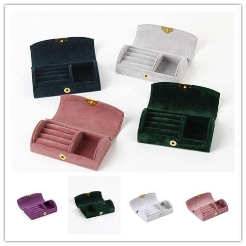 HOSENG 20Pcs/Lot Wholesale Grey Colors Available Flannel Ring Box Romantic Jewelry Wedding Gift Earrings Packaging Case HS_43