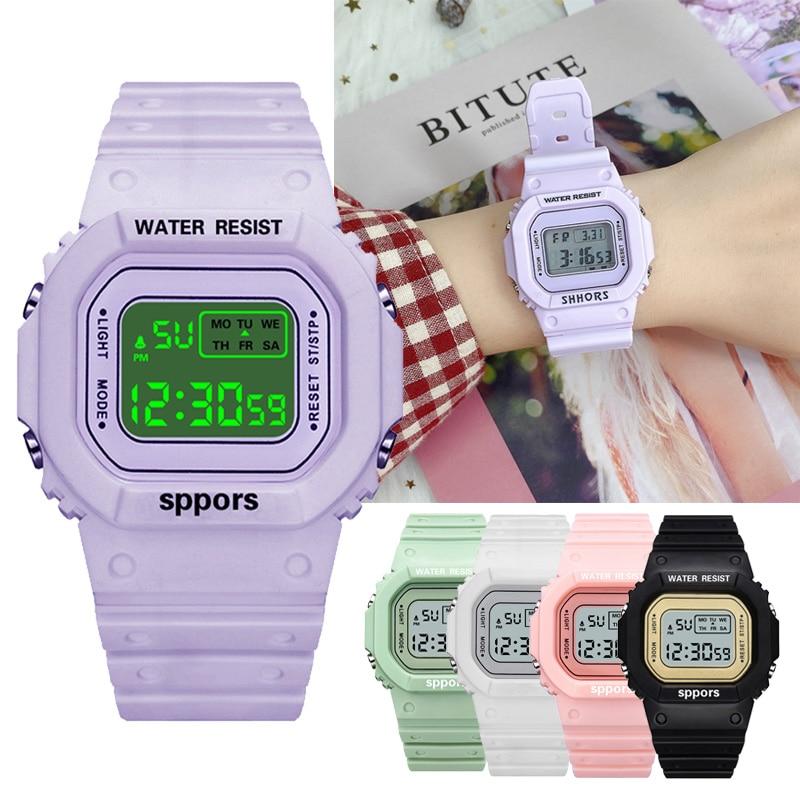 Women's Digital Luminous Watches Men Unisex Kids Watch Sport Female Clock Waterproof Wristwatch Dres