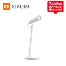 XIAOMI MIJIA Mi LED lampe de Table USB charge lecture lampe de bureau étude bureau lampe de table Portable chevet veilleuse 120 ° rotation