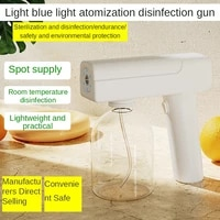 nano spray disinfection machine new handheld blue light wireless indoor air disinfection gun charging spray gun alcohol atomizer