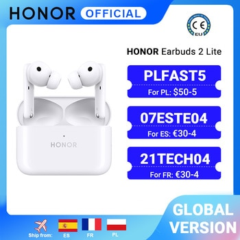 In Stock Global Version HONOR Earbuds 2 Lite TWS Wireless Bluetooth Earphone AAC Active Noise Cancellation Bluetooth 5.2