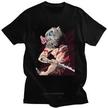 Drôle Inosuke Hashibira T-shirt hommes à manches courtes Anime démon Slayer Kimetsu No Yaiba T-shirt décontracté T-shirt coton T-shirt Harajuku
