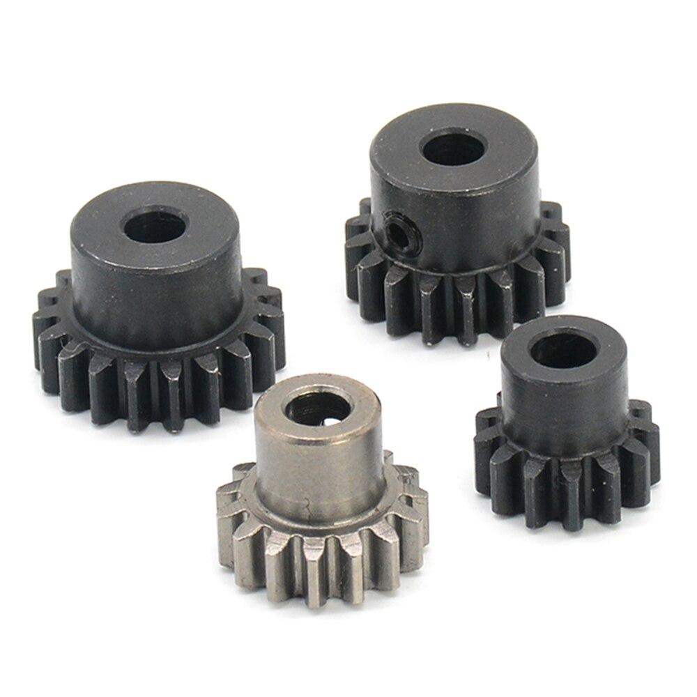 Peças de carro rc dhk hobby 8384/8382/8381 aço dentes motor eixo do motor 5mm pinhão aço engrenagem acessórios m1 13t 15t 17t 19t