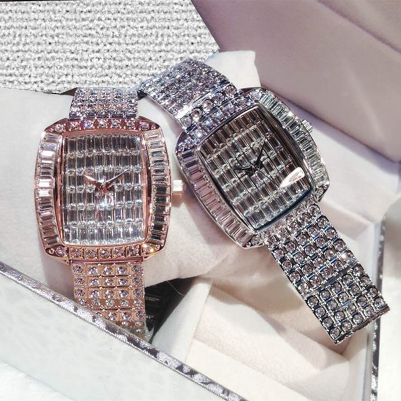 Watches Woman Rhinestone Quartz Ladies Watch Famous Diamond Luxury Brand Bracelet Top Wristwatch Crystal Quartz Clocks 2020
