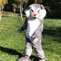 advertising mascot costume gray cat adult fancy dress costume set advertising halloween birthday gift christmas adult