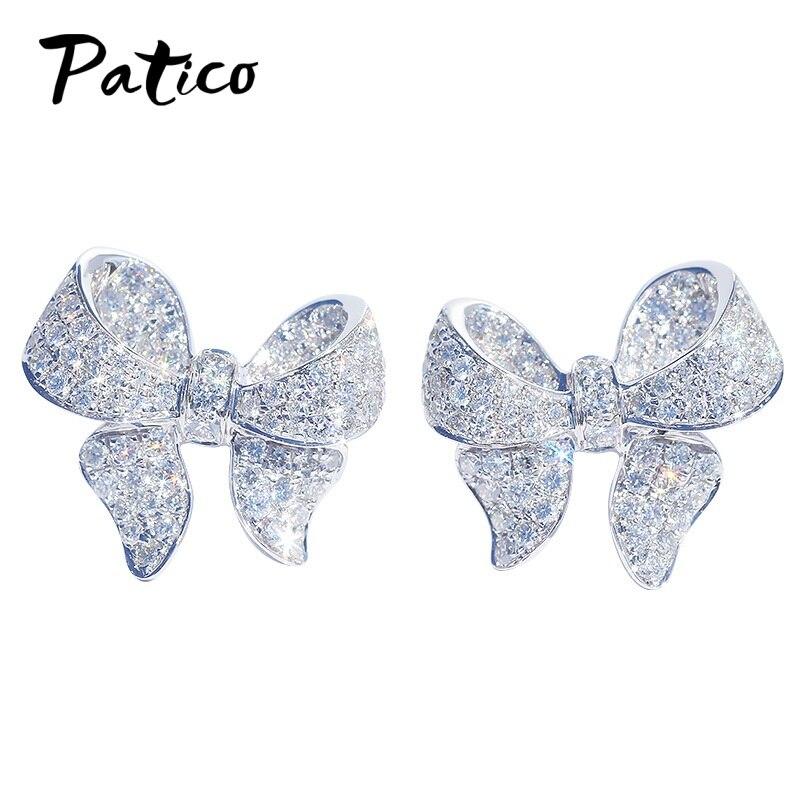 Новые-Элегантные-серьги-гвоздики-из-стерлингового-серебра-925-пробы-с-большим-бантом-и-галстуком-бабочкой-для-женщин-аксессуары-ювелирные-и