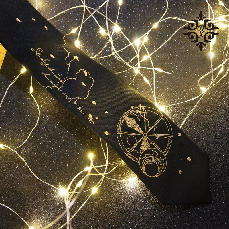 Free shipping New Men's male fashion Original black sun and moon stars tie hand embroidery uniform shirt accessories necktie