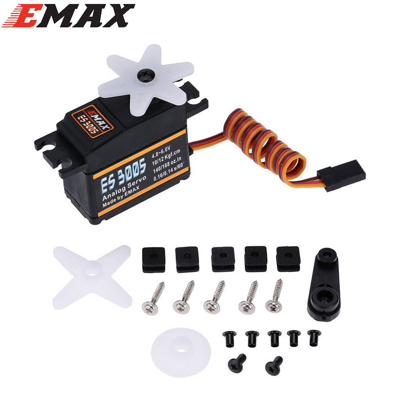 Original EMAX ES3005 42g Metal Analog Servo for RC Airplane Waterproof