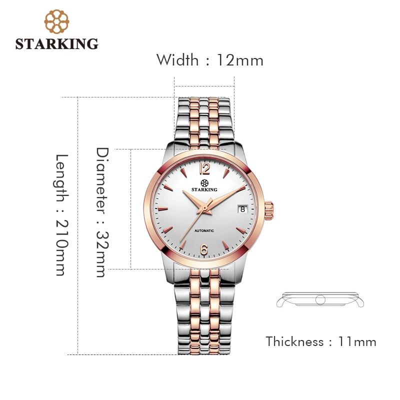 STARKING Women Watch Automatic Self-wind Analog Ladies Waterproof Stainless Steel Wristwatch 5atm Female Relogio Feminino Clock enlarge