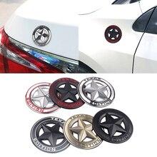 1 pièces de style de voiture 3D métal TEXAS édition bouclier pentagramme emblème autocollant pour JEEP Wrangler Liberty Grand Cherokee accessoires de voiture