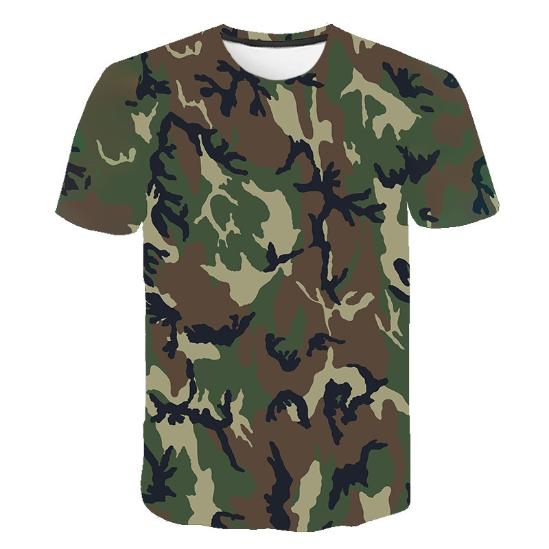 AliExpress - Red gray green camouflage clothing 3d printed T-shirt men and women short-sleeved T-shirt fashion breathable T-shirt size s-6xl