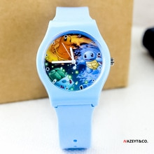 Pokemon New Children's Silicone Analog Quartz Watch Cute Cartoon Anime Characters Boys and Girls Dig