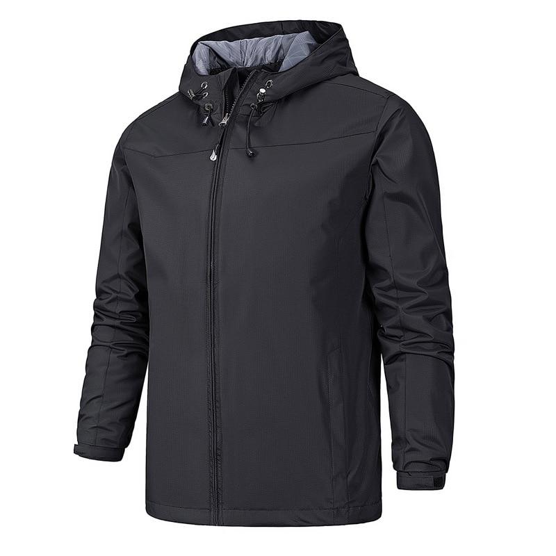 Мужская ветрозащитная куртка, молодежная Повседневная куртка с отделкой, верхняя одежда для мужчин, 2021