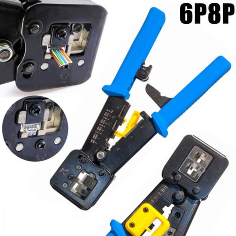 Стальные обжимные инструменты для Cat5e Cat6 кабели обжимной инструмент комплект обжимной 8P8C/RJ-45 6P6C/RJ-12 6P4C/RJ-11 соединители
