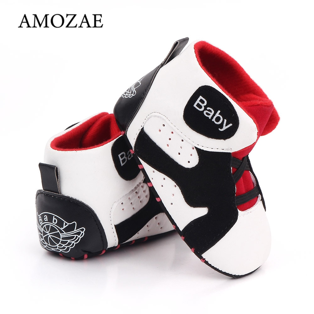 2018 spring autum new infant sports baby boy shoes of children 1 3 years toddler soft bottom hook Spring Newborn Baby Casual Sports Shoes Baby Shoes Baby Boys Sneakers Soft Bottom Breathable Baby Girls Infant Toddler Shoes