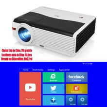 A9AB Beam Projector Home Theater Video Led 6000 Lumens Wireless Airplay Android Support EU US Free V