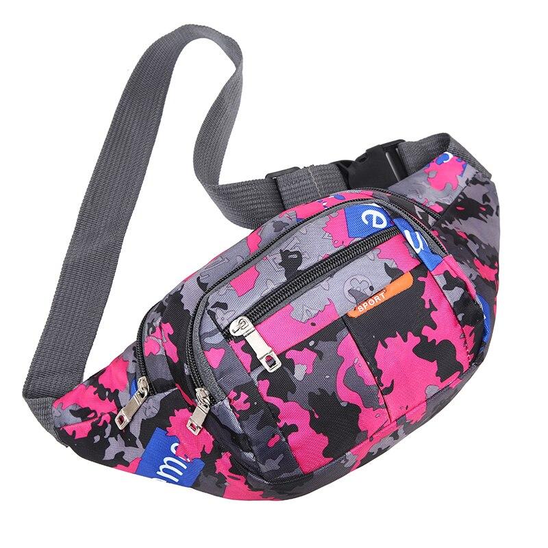 Women Man Fashion Sports Waist Packs Camouflage Oxford Multi-Layer Fanny Pack Zipper Color Matching Phone Sachet Belt Pouc